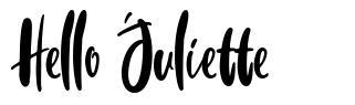 Hello Juliette
