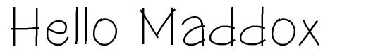 Hello Maddox font
