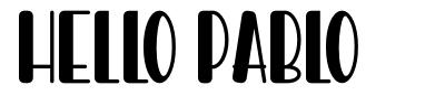 Hello Pablo font
