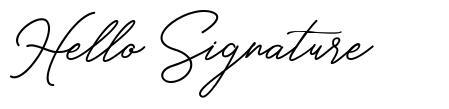Hello Signature