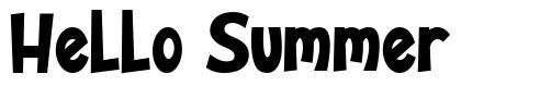 Hello Summer шрифт