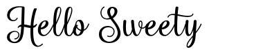Hello Sweety font