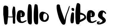 Hello Vibes font