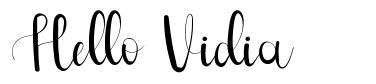 Hello Vidia font