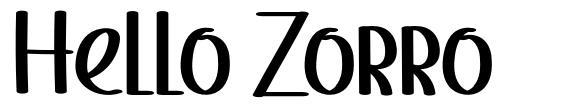Hello Zorro