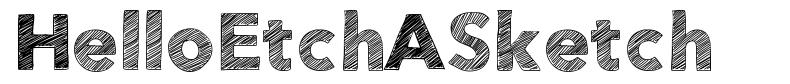 HelloEtchASketch font