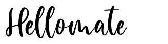 Hellomate font