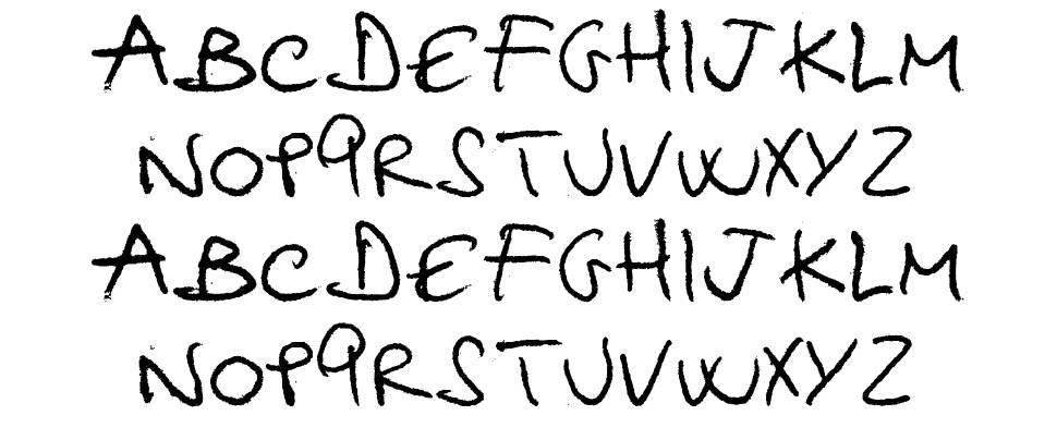 Hellphabet font