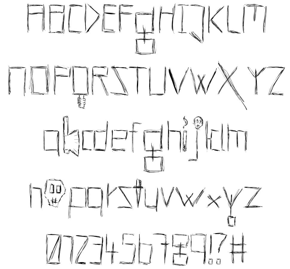 Lucifer Font: Hells Kittchen Devil God Font By Manuel Viergutz