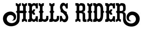 Hells Rider font