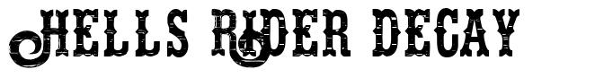 Hells Rider Decay шрифт