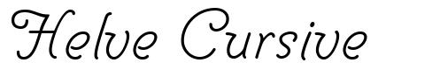 Helve Cursive font