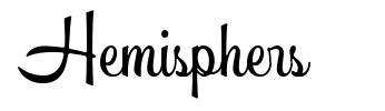 Hemisphers font