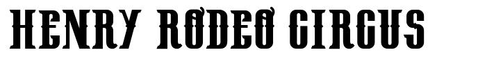 Henry Rodeo Circus font
