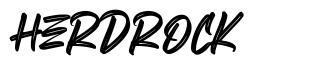 Herdrock шрифт