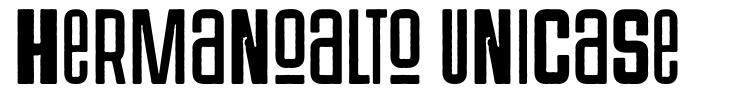 Hermanoalto Unicase フォント