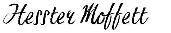 Hesster Moffett шрифт