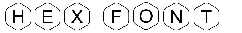 HEX Font