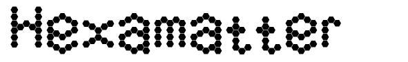 Hexamatter font