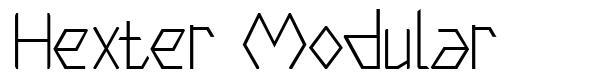 Hexter Modular font