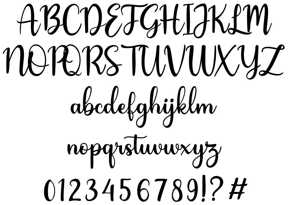 Hey Lover font