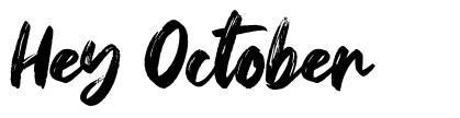 Hey October font
