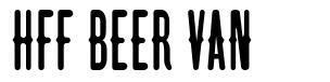 HFF Beer Van font