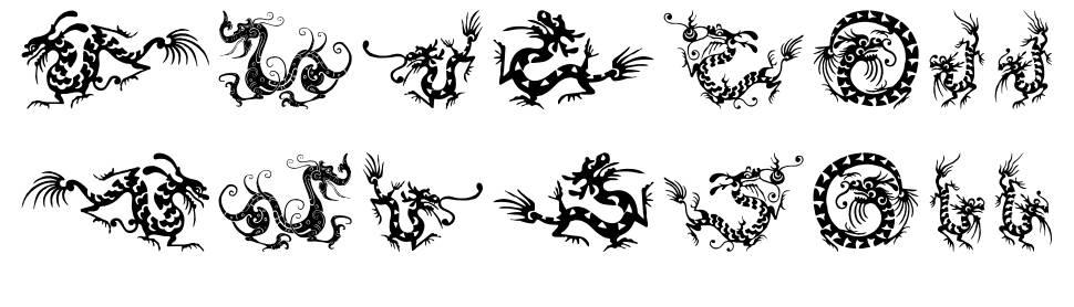 HFF Chinese Dragon font
