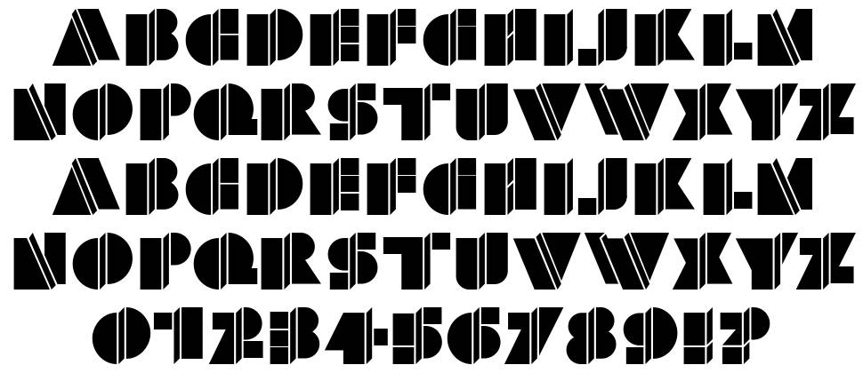 HFF Warped Zone font
