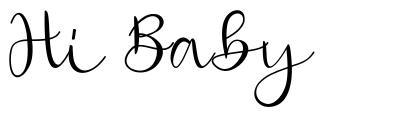 Hi Baby písmo