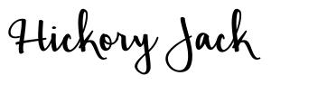 Hickory Jack font