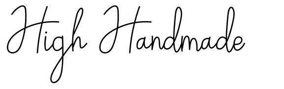 High Handmade