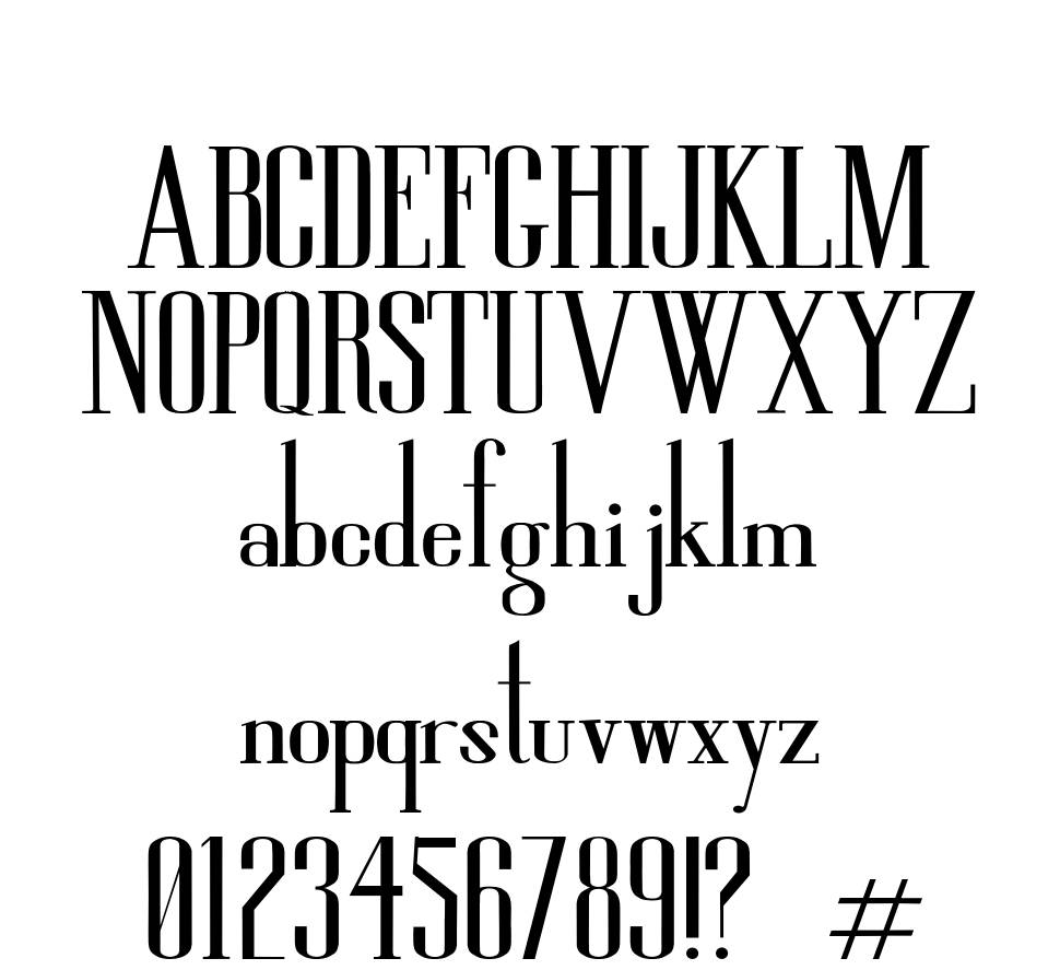 High So Serious font
