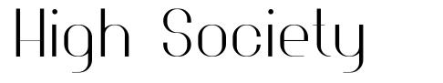 High Society font