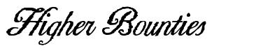 Higher Bounties font
