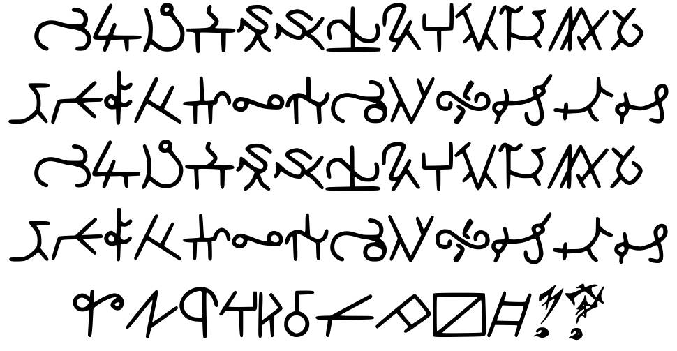 Highschool Runes font