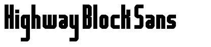 Highway Block Sans font