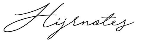 Hijrnotes font