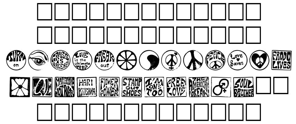 Hippy Stamps font