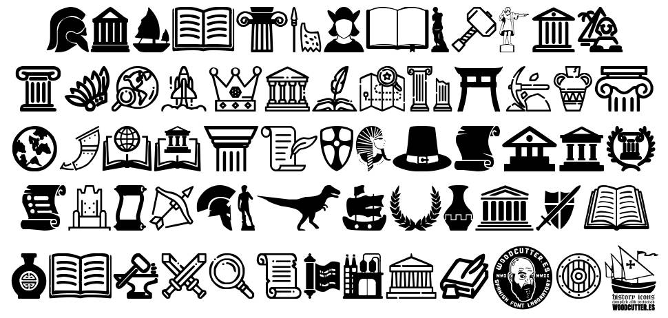 History Icons font
