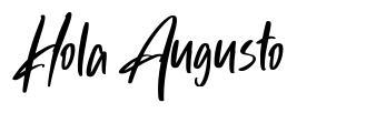 Hola Augusto font