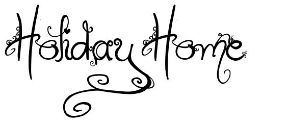 Holiday Home font