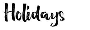 Holidays font