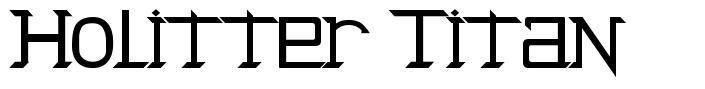 Holitter Titan font