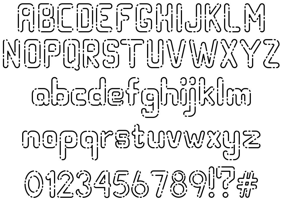 Hollow Space font