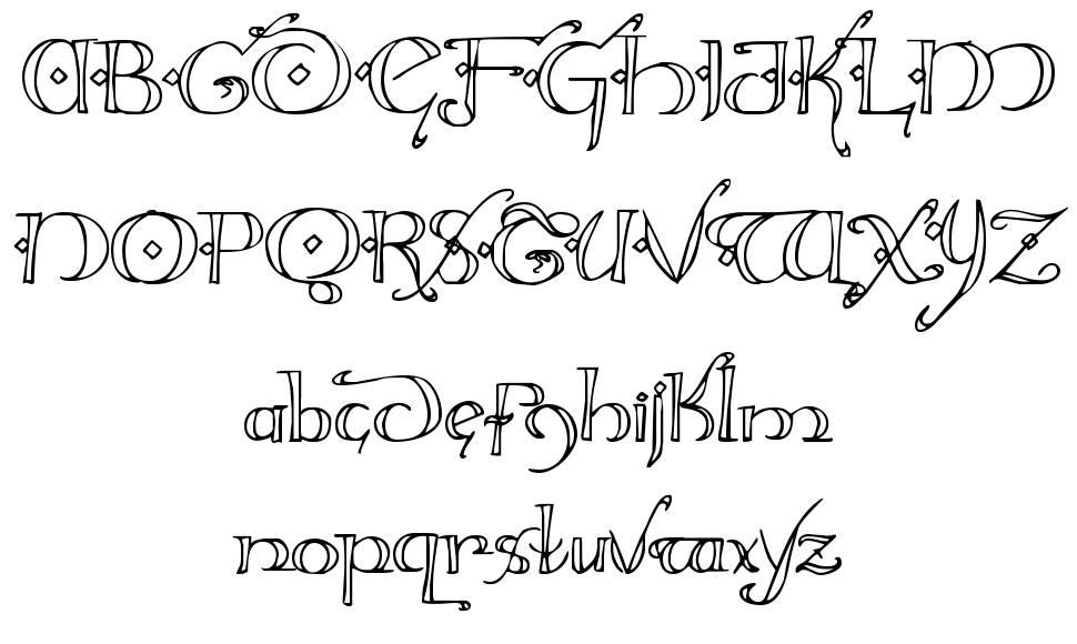 Holly Jingle font