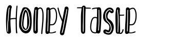 Honey Taste font