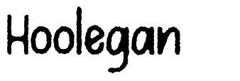 Hoolegan schriftart