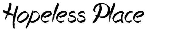 Hopeless Place font