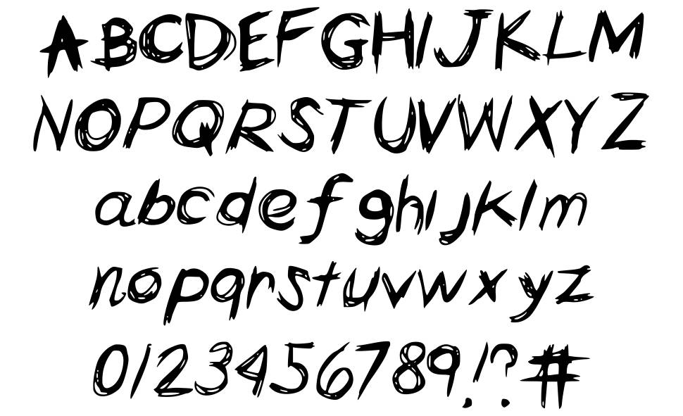 lettering font a to z